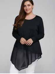 SHARE & Get it FREE | Plus Size Asymmetrical Chiffon Patchwork BlouseFor Fashion Lovers only:80,000+ Items • New Arrivals Daily • Affordable Casual to Chic for Every Occasion Join Sammydress: Get YOUR $50 NOW!