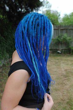 blue dreadlocks One Luv +dreadstop / @DreadStop #dreadlocks