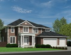 Home Plans & Unique House Designs - Robinson Plans Colonial House Plans, Unique House Design, Storey Homes, Luxury House Plans, Brighton, Finding A House, Model Homes, My House, 2nd Floor