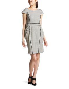 Amazon.co.jp: (イジュ イラン イラン)Iju YLANG YLANG コットンストライプ タイトワンピース Y131551 WHITE S: 服&ファッション小物通販
