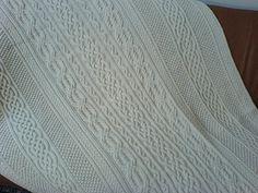 Ravelry: Burridge Lake Aran Afghan pattern by Anna Dalvi