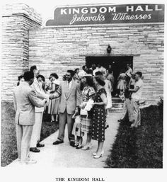 Kingdom Hall. It would be nice to know where and what year...but I'm just repining and don't have that info.