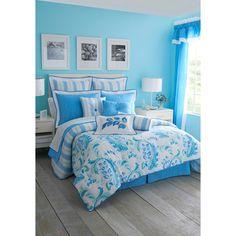 Calypso Comforter Set - such a pretty color blue!