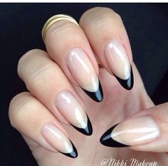 Simple with classic black round tips