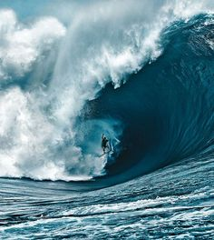 Wow! Surfing the waves
