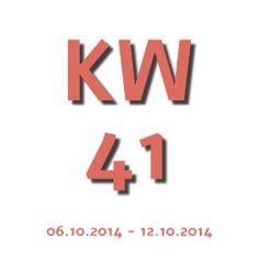 Die Aktuelle Kalenderwoche - KW 41 2014 geht von 06.10.2014 - 12.10.2014