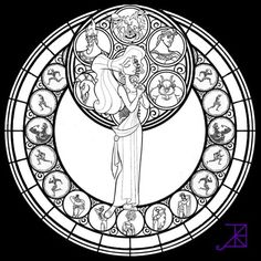 Stained Glass coloring picture free for adults - Letscolorit.com