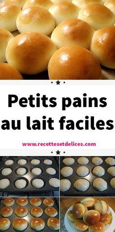 Petits pains au lait faciles - Best Pins world Desserts For A Crowd, Creative Desserts, Beignets, Naan, Milk Bun, Vegan Recipes, Cooking Recipes, Bread Bowls, Vegan Meal Prep