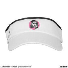 Cute zebra cartoon headsweats visor