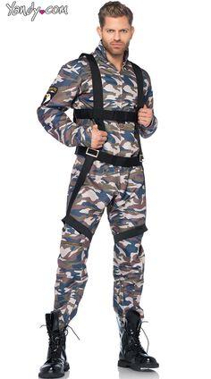 Men's Military Combat Stud Costume- $69.95 #Yandy #Halloween #MajorBabeCostumes