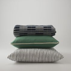 men's suiting fabric used for throw pillows - green, grey, black - #schoolhouseelectric @Schoolhouse Electric  @Design*Sponge