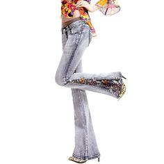 M bell parte inferior femenino pantalones vaqueros bordados tendencia nacional de diamante abalorios en de en Aliexpress.com   Alibaba Group