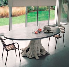 Tree Limb Hinged Table Legs From Arboreal Antler Seating To Growing Tables