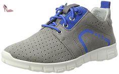 Richter Kinderschuhe  Run, Sneakers Basses garçon - gris - Grau (rock/lagoon), 34 - Chaussures richter kinderschuhe (*Partner-Link)