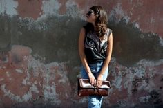 BRAUNIS big leather clutch by Telavivstreet on Etsy, $140.00