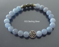 Yoga Bracelet Man wrist mala Calming bracelet by EmpathyGifts