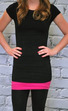 Extra Long Crew Neck Shirts are perfect for layering   Available in 22 Colors on Jane