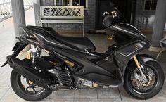 Aerox 155 Yamaha, Yamaha Scooter, Custom Bikes, Motorcycles, Concept, Vehicles, Sports, House, Black