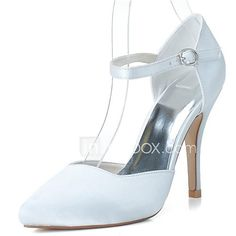 Women's Spring Summer Fall Satin Wedding Party & Evening Stiletto Heel Hollow-out Black Blue Pink Purple Ivory White Silver - USD $39.99 ! HOT Product! A hot product at an incredible low price is now on sale! Come check it out along with other items like this. Get great discounts, earn Rewards and much more each time you shop with us!