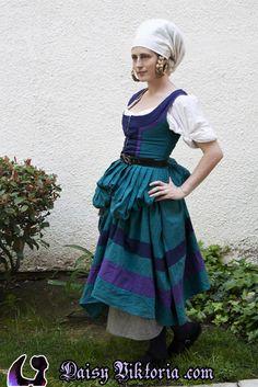 Teal Kampfrau / Trossfrau by DaisyViktoria on deviantART  these colors are amazing!