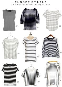 Closet Staple: The Black and White Striped Tee