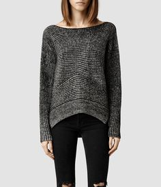 Womens Mesa Sweater (Black/ Chalk) - product_image_alt_text_1
