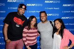 DJ Don Cannon, ASCAP's Nicole George-Middleton, producer No I.D. and ASCAP's Jennifer Drake