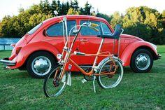 VW Käfer und #Bonanza #Fahrrad. Die 70 iger lassen grüßen !