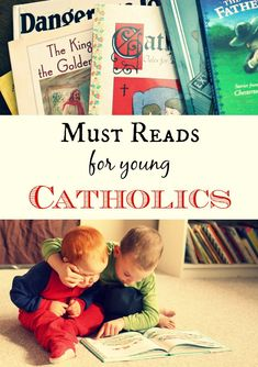 The COMPLETE booklist for young Catholics. Great reads for all children. Catholic Crafts, Catholic Books, Catholic Kids, Catholic School, Catholic Prayers, Catholic Homeschooling, Catholic Traditions, Roman Catholic, Catholic Readings