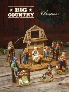 I LOVE this nativity set!   Big Sky Carvers Western Cowboy Christmas Nativity Set by Artist Kathy Fincher   eBay