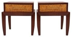 Pre-owned Brown & Saltman Walnut Night Stands by John Keal - midcentury - Nightstands And Bedside Tables - Chairish