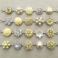 Pearl and Soft Yellow Bracelets Set of 4 by ChicMaddiesBoutique