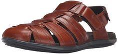 FitFlop Men's Gogh Moc Slide Adjustable Nubuck Slide Sandal, Chocolate Brown, 10 M US Men's Shoes -- Click image for more details.