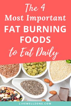 There are lots of fat burning foods that burn fat fast. But the questions is which fat burning foods for women should you eat daily? This article gives you important weight loss eating tips to jumpstart and achieve your weight loss goals. Weight Loss Meals, Weight Loss Drinks, Stomach Fat Burning Foods, Best Fat Burning Foods, Good Healthy Recipes, Healthy Foods To Eat, Healthy Eating, Healthy Weight, Diet Recipes