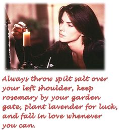 practical magic :) Another of My All Time Favorite Witches Tv Show Quotes, Movie Quotes, Wicca, Magick, Practical Magic Movie, Eclectic Witch, Danny Devito, Good Old Times, Prayer Quotes