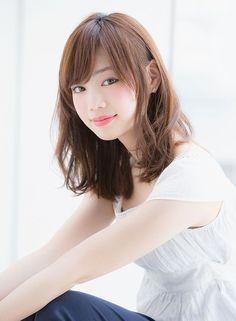 P Kawaii Hairstyles, Pretty Hairstyles, Girl Hairstyles, Medium Hair Styles, Short Hair Styles, Asian Hair, Cute Beauty, Hair Photo, Mi Long