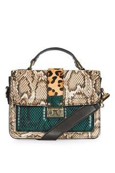 Animal Print Paneled Crossbody Bag from Topshop R580,00