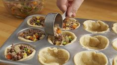 Traditional shepherd's pie gets a mini makeover in this easy muffin tin recipe. The best part? You can prepare these pies ahead of time and freeze for a later date—perfect to stash away for busy weeknights when you need to get dinner on the table fast.