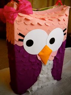 From cereal box to piñata owl- De caja de cereal a piñata de búho | Laly's 2nd floor