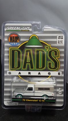 PLEASE READ DESCRIPTION BEFORE ORDERING OR YOU WILL NOT RECEIVE Greenlight 1:64 Scale C-10 1972 72 Pickup Truck 1:64 Scale Super Green Machine Raw Maui Fest Fundraiser Truck $300 Purchase required (Dads Garage Raw With Camper)