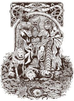 Odin & Freyja por dano - Fantasía | Dibujando.net