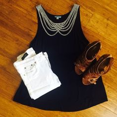 Anthropologie Leifnotes Navy Blue Knit Top This shirt is a beauty! Navy blue with scalloped string detail. No necklace needed!! Cool, lightweight material. 100% viscose material. Size XS. Hand wash only! Never worn and in perfect condition! Anthropologie Tops Tank Tops
