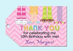 Pajama Party Sleepover Birthday Goody Bag Favor by PartyPopInvites, $8.00