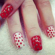 red n white polka dots