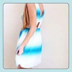Methyl blue ombre dress NWT BB Dakota methyl blue ombre dress with side zipper. Lining and exterior 100% polyester. Length 33.5, armpit across 18, waist 14. BB Dakota Dresses Midi