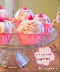 Make Pool Noodle Cupcakes