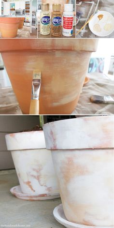 white wash on pots from ikea..