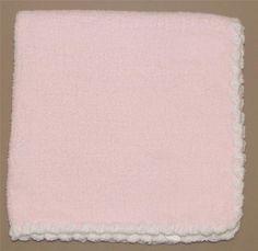 Baby Dream Blue White Acrylic Woven Baby Blanket Fringe