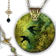 Graphic Design Decoupage Jewelry by Tzaddishop