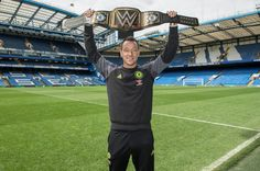9dc3e642eb3 Chelsea captain John Terry has been presented with a customised WWE  championship belt to celebrate the